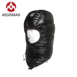 Wholesale goose down hats - Aegismax Winter 800FP Goose Down Hat for Men Women Outdoor Camping Caps Hood Ultralight Envelope Sleeping Bag Accessories