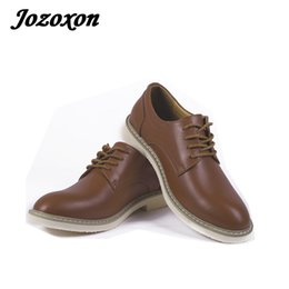 Wholesale Men Fashion Dress Boots - Jozoxon 2018 Fashion Dr Men Casual Shoes Safety Mens Dress Boots Oxfords Men Leather Shoes Martin Motorcycle Work Shoe Size38-44