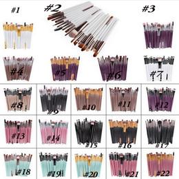 conjunto de pincel 15pcs Desconto Profissional 20 Pcs 15 pcs conjuntos de Maquiagem Pincel Esteticista Cosméticos Maquiagem Brushes Eyeshadow Eyeshadow Concealer Pincel Para sombras de olho