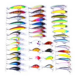 Wholesale Mixed Lures - Outdoor Mixed Fishing Lure Set Hard Bait Artificial Lure Kit Wobblers Fly Fishing Lures Crankbait Fishing Tools
