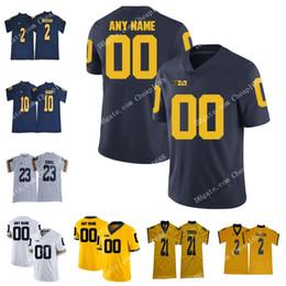 Michigan Wolverines NCAA # 26 Jourdan Lewis 56 LaMarr Woodley 77 Jake Long 80 Alan Şubesi Sarı Beyaz Lacivert Dikişli Kolej Futbolu Je nereden