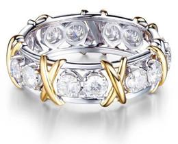 Deutschland 925 massiv sterling silber natürlichen edelstein weißen saphir diamant ewigkeit stapelbar band ring hochzeit verlobung edlen schmuck Versorgung