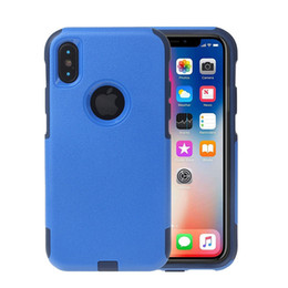 Wholesale slim cell - Shockproof Dual Layer Ultra Thin TPU Hybrid Rugged PC Slim Hard Back Case Non-slip Cover For iPhone X Commuter Armor Cell Phone Cases