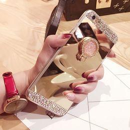 Wholesale diamond iphone 5s cases - for iPhone 5 5s se 6S 6 7 8 Plus X Case Cover Luxury Rhinestone Diamond Glitter Mirror Soft TPU Silicone Coque Cover