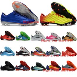 Wholesale Cheap Vapors - 2018 cr7 soccer cleats Mercurial Vapor XI FG cheap leather football boots low mercurial soccer shoes neymar high quality mens shoes Cheap