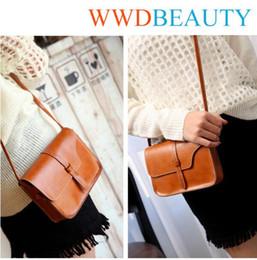Wholesale Trendy Shoulder Bags - 9 Colors Fashion PU Leather Vintage Purse Bag Handbag Shoulder Bag Crossbody Messenger Handbag Trendy Gift CCA8848 30pcs