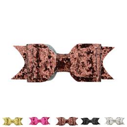 lantejoulas de feltro Desconto Kid Natal Grande Glitter Lantejoulas BowKnot Grampos de Cabelo Para Meninas Newborn Headwear Acessórios Para o Cabelo Brilho Sentiu Arco menina