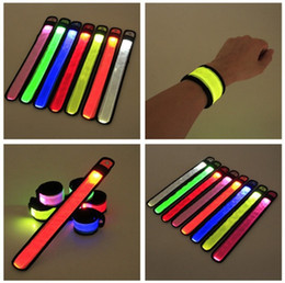 Brazaletes de fiesta online-Nylon LED Light Bracelet Colorful High Density Luminous Wristband Deportes al aire libre Brazalete intermitente para Party Concert 3 8rq T