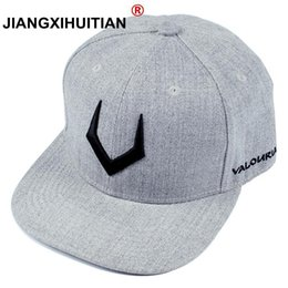 457c51803763a1 large ball caps NZ - large size High quality grey wool snapback 3D pierced  embroidery hip
