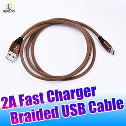 Câble sans enchevêtrement en Ligne-Câble Micro USB tressé en nylon sans enchevêtrement, type C, câbles 3FT 2A, charge rapide, câbles de synchronisation pour Samsung S9 Plus