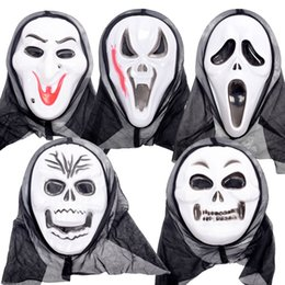 Wholesale Vampire Masks - 1pcs Scary Vampire MichaelMyers Cosplay Party Plastic Mask Horror Movie Halloween Cosplay for Full Face Adult Mask Party