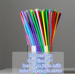 2019 una arti Colore cannucce arte creativa cannucce di plastica una volta bending juice drinks long straws fai da te manuale produzione di tessitura I212 una arti economici