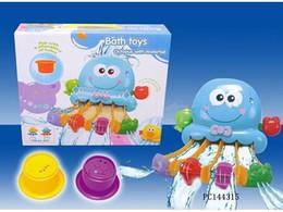 Brinquedo de polvo plástico on-line-Bebê Banho Brinquedos Octopus Pista Dos Desenhos Animados Pista Multicolor Favorito Jogar Torneiras Plástico Buttressed Pulverizador Presentes Do Chuveiro Crianças Roda De Água De Imprensa