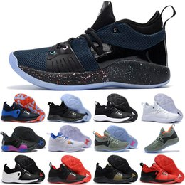 low priced 6d0da 665be 2018 Men Athletic Paul George 2 PG 2s Basketball Shoe PG2 PS4 Playstation  Oreo Home Blue Black Gold Sports Sneakers 40-46 A03