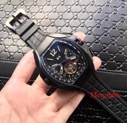 Relógio de pulso on-line-Novo estilo automático relógio de Pulso mecânico homens assistir pulseira de borracha de aço inoxidável carro de esportes de discagem CONQUISTADOR Relógios de Pulso homem Relógio De Pulso