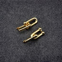 Série u on-line-Brincos de ouro Mulheres Partido U forma atraente stud jóias de luxo de alta qualidade charme hardwear series studs