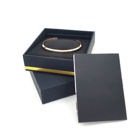 Wholesale 18k gold bracelet mens - New DW Bracelets Cuff with Original box Rose Gold Silver Bangle All Stainless steel Bracelet Women and Mens Bracelet Jewelry set