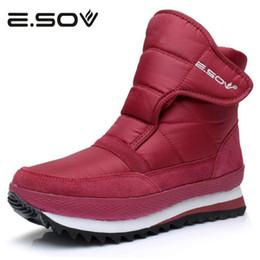Wholesale warm waterproof winter sneakers - Esov Plus Size35-45 Women Boots Waterproof Platform Fur Female Warm Ankle Sneakers Snow Boot Woman Winter Women Cotton Shoes