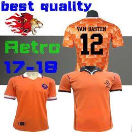 Ретро 1988 Нидерланды Футбол Джерси Ван Бастен 1998 Голландия Ретро футбол Джерси BERGKAMP 97 98 Гуллит от