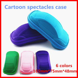 Wholesale Car Sunglasses Case - Child glasses case cartoon sunglasses zipper car glasses box cute children easy to carry