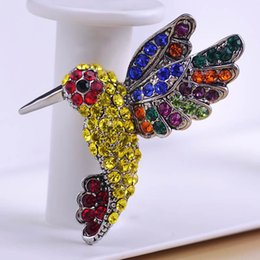 Wholesale Scarves Korea - Wholesale- Korea New Birds Animal Brooch Broches Scarf Pins Brooch Bouquet Wedding Brooch Perfumes for Personality Women Violetta Unhas Vaz