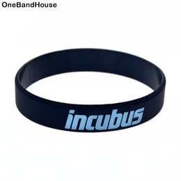 Wholesale Alternative Gifts - Wholesale 100PCS Lot Incubus Silicone Bracelet Alternative Metal Band To Used In Any Benefits Gift For Music Fans