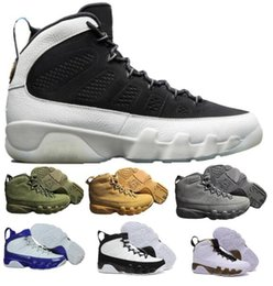 Wholesale Men Statue - New Air 9 Basketball Shoes Men Women Yellow Space Jam Anthracite Copper Statue Barons Suede Fabric 9s IX Spring Sports Tennis Mens Sneakers