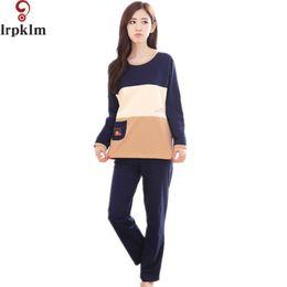 Women Pajama Sets 2017 Spring And Autumn Female Sleepwear Cartoon  Long-Sleeve Cotton Lounge Set Plus Size XXL SY560 3b6ca3203