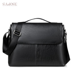 Fashion Casual Business Men Leather Briefcase Bag Trendy Solid PU Leather  Men s Handbag Simple Men Shoulder Bag Drop Shipping trendy cross body bags  outlet ca641caecc51b