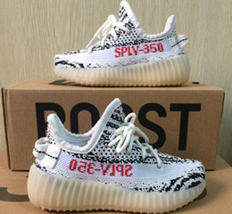 Wholesale core air - Free Shipping Kids Boost 350 V2 Zebra Core Black Red White Shoes,Boys Girls Sply 350 v2 zebra Size 28-35