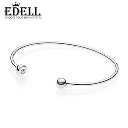 Essenz sterling silber armband online-EDELL 100% 925 Sterling Silber Authentische 597229CZ ESSENCE STERLING Charm Armband Original Frauen Schmuck