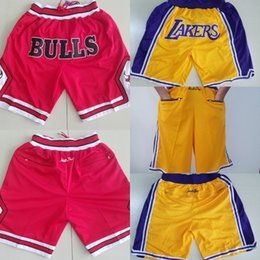 Lignes de balle en Ligne-Just just shorts los angeles just don shorts doublure pantalons de sport mixte fente pantalon de basket-ball homme rouge