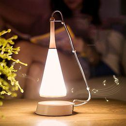 iluminação moderna de cabos Desconto Cabo USB Recarregável Sem Fio LEVOU Candeeiro de Mesa Moderna Controle de Toque Bluetooth Speaker Audio Mesa Ajustada Lampy Luz Frete Grátis