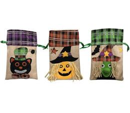 Argentina Víspera de Todos los Santos de la decoración de Halloween bolso del caramelo del festival de los niños bolsa de bruja cuerda de calabaza fiesta del partido del vestido de la nave libre Suministro