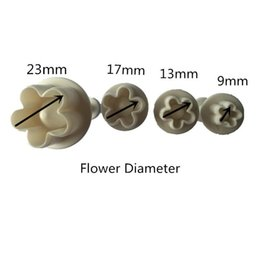 Wholesale Plastic Plums - Wholesale- XIBAO Creative 4pcs set Plum Flower Plunger Cake Cookies Mold Tools Cookie Cutter Cake tools Kitchen DIY Tools