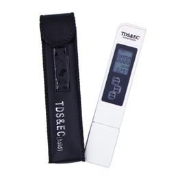 Tester di conducibilità online-TDS Meter Tester Pen EC conduttività Meter Water Tester Strumento di misura TSDEC Strumento Meter Pen Funzione 3 in 1 tds EC