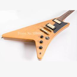 guitarra de marca rosewood Rebajas Moderne Korina 6 cuerdas guitarra eléctrica servicio personalizado de bricolaje / personalizable color de cuerpo y cuello / logotipo personalizable de su propiedad