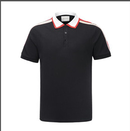 2019 bolas vermelhas grandes Luxo Itália Tee T-Shirt Designer Camisas Polo High Street Bordados Garter Cobras Pouco Abelha Impressão Roupas Mens Marca Pólo Camisa
