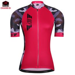 vêtements de cyclisme Promotion ZM 2018 New SportsWear Femmes Cyclisme Jersey À Manches Courtes Vêtements De Vélo Chemise De Course Habillement Vélo D'équitation VéloTop