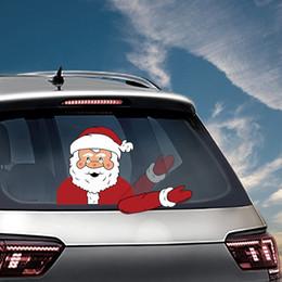 Canada Stickers d'essuie-glace de noël Décorations de voiture PVC arrière vitre d'essuie-glace autocollants voiture style autocollants pare-brise de Noël SUV ornement cheap sticker wiper Offre