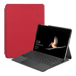 2019 tablet mais fino 2018 Slim Magnetic Stand Capa Flip Bom PU Estojo De Couro para Microsoft Surface Go 10 polegada Tablet Protetor Da Pele Shell tablet mais fino barato