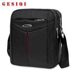 Wholesale Wholesale Plain Notebook - Wholesale- Hot Sale Casual Men Business Messenger Bags High Quality Nylon Men'S Small Notebook Shoulder Bags Brand Male Crossbody Bags
