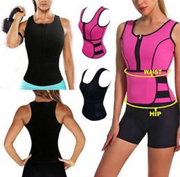 Wholesale Wholesale Sweat Vest - Neoprene Vest Body Shaper Slimming Waist Adjustable Belt Sweat Sauna Slimming Belt Body Shaper Waist Trainer Vest Workout Shapewear 8 colors