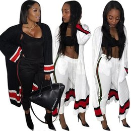 Wholesale Cardigans Maxi Long Length - Two Piece Set Autumn Leisure Poncho X-Long Cardigan Outwear Tops And Bodycon Pants Sexy Suits 2 Piece Set Women