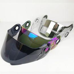 d217a566 100% Original full shield LS2 ff370 Flip Up motorcycle helmet visor  suitable for LS2 FF394 FF325 helmet 4 color lens glass