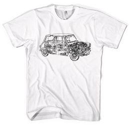 2019 mini cooper grátis Mini Cooper Esquema Carros Clássicos Unisex T-Shirt Todos Os Tamanhos Engraçado frete grátis Unisex Casual desconto mini cooper grátis