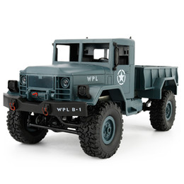 Wholesale Diy Metal Car - 1:16 DIY Military Four-wheel Drive Off-road Remote Control Climbing Car Model For WPL B-1 Description 100% brand new and of high quality