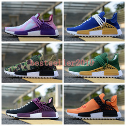 Wholesale dragon ball son goku - Nmd Human Race Shenron Dragon Ball Pharrell Williams Running Shoes Pink Glow Son Goku Men Women Hu Trail Vegeta Holi Equality cream Sneakers