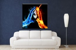 Wholesale Figure Wallpaper - Oil Painting Printed On Canvas Colorful Wall Pictures For Living Room Home Decor Wall Art Picture cool wallpapers of love