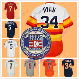 Wholesale Craig Grey - Nolan Ryan Craig Biggio Jeff Bagwell Jerseys Houston Cooperstown Jersey Rianbow Flexbase Cool Base Home Away Hall Of Fame Patch